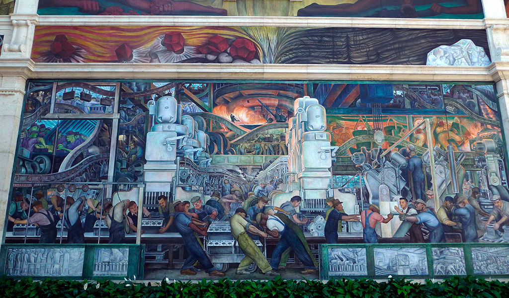 Detroit d3 travel company for Diego rivera mural san francisco art institute